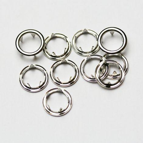 Fixations pour Bouton Pression 11mm Argent gris x 10