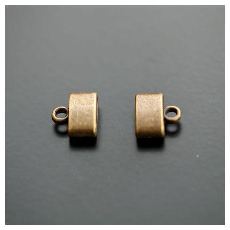Embout à coller 9x2.5mm Bronze vieilli