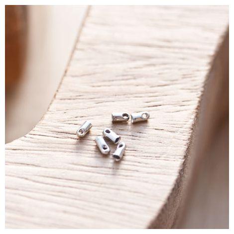 Embout pour cordon à coller 1.2mm Argent gris