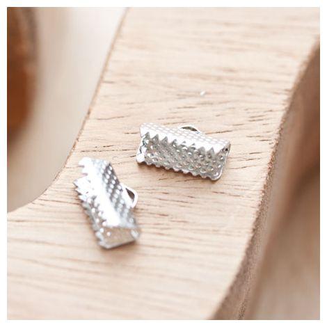 Embout pour tissu à pincer 13mm Argent gris