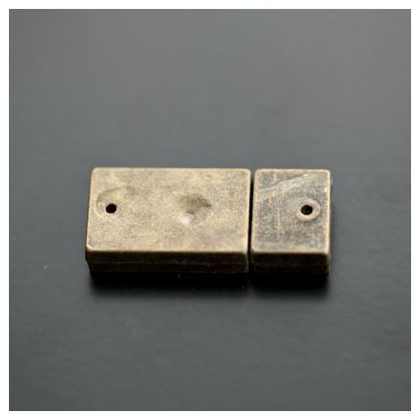 Fermoir Magnétique Rectangle 30x13mm Bronze vieilli