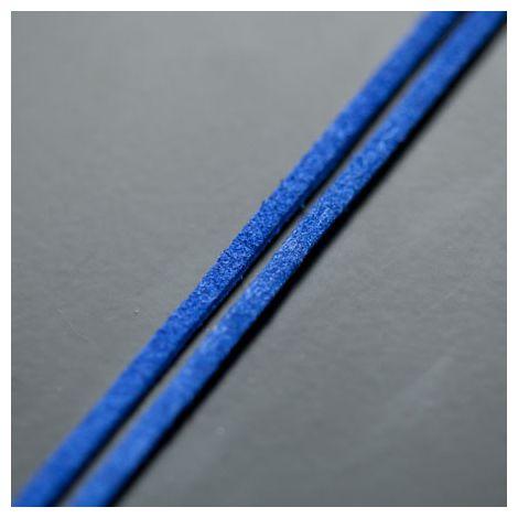 Lanière Imitation Suédine 3mm Bleu