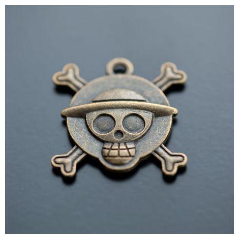 Pendentif à Cabochon 20mm Pirate Bronze vieilli