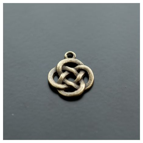 Pendentif Cercles entrelacés Bronze vieilli