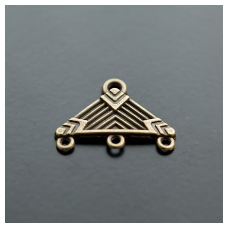 Pendentif Chandelier Triangle Bronze vieilli