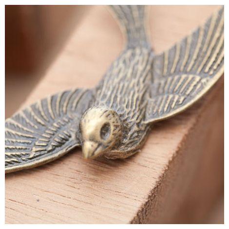 Pendentif Connecteur Grand Oiseau Volant Bronze vieilli