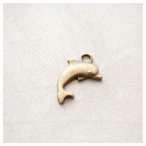 Pendentif Dauphin Bronze vieilli