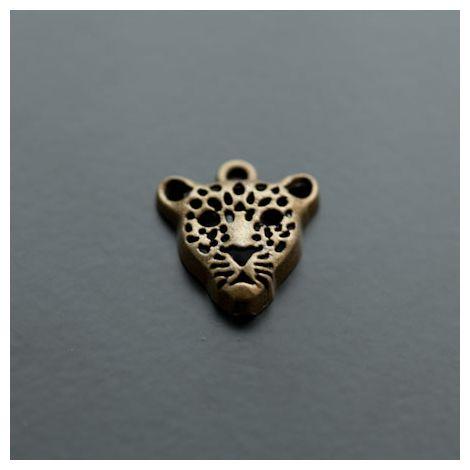 Pendentif Léopard Bronze vieilli