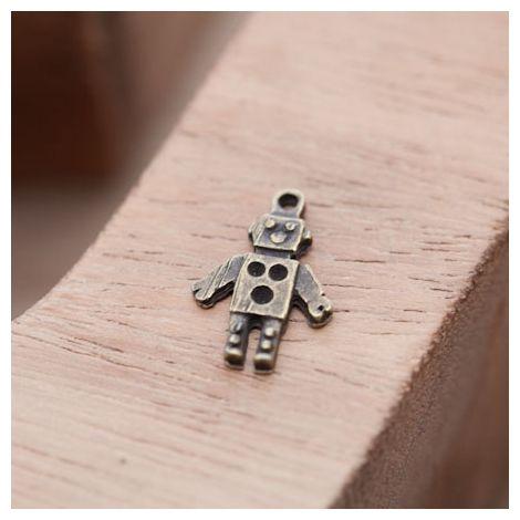 Pendentif Petit Robot Bronze vieilli