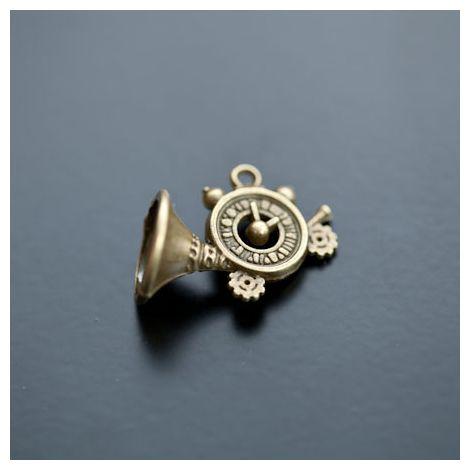 Pendentif Trompette Cornet Bronze vieilli