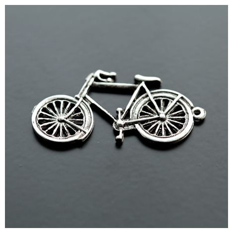 Pendentif Vélo Argent vieilli