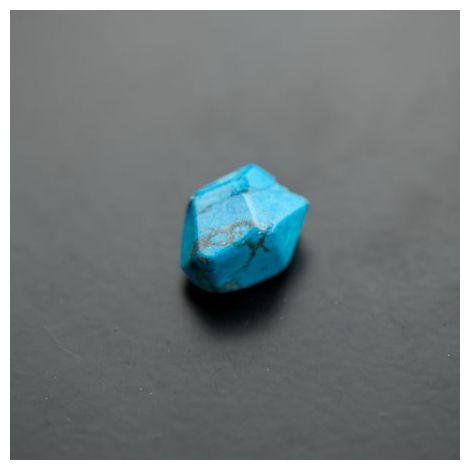 Perle de Gemme Ovale 13x15mm Facettes Turquoise