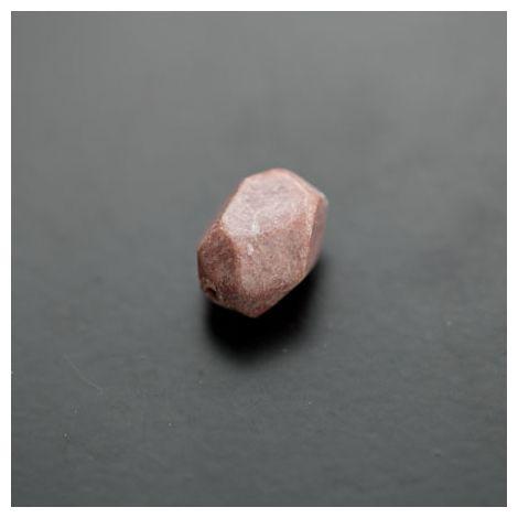 Perle de Rhodonite Ovale 13x20mm Facettes