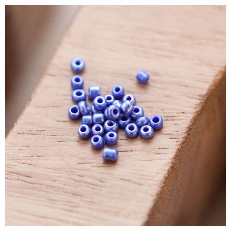 Perle de Rocaille 2mm Verre Bleu Nacré