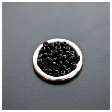 Perle de Rocaille 2mm Verre Noir