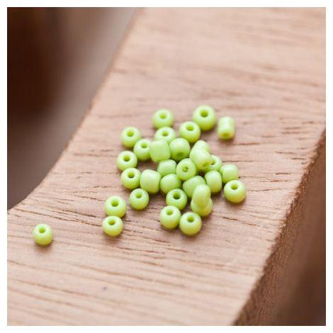 Perle de Rocaille 2mm Verre Vert Citron