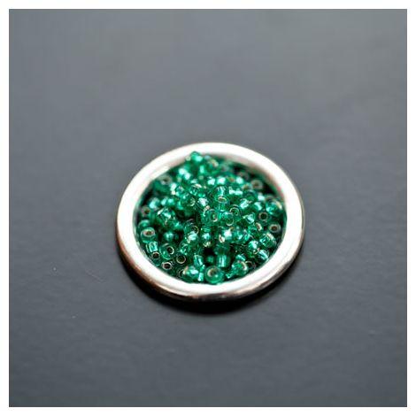 Perle de Rocaille 2mm Verre Vert Océan Transparent