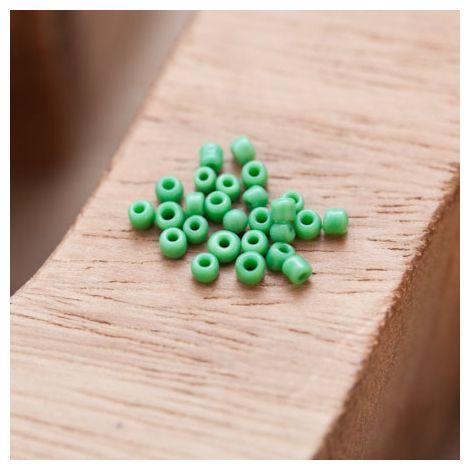 Perle de Rocaille 2mm Verre Vert