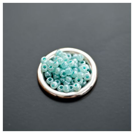 Perle de Rocaille 3mm Verre Vert Cyan clair
