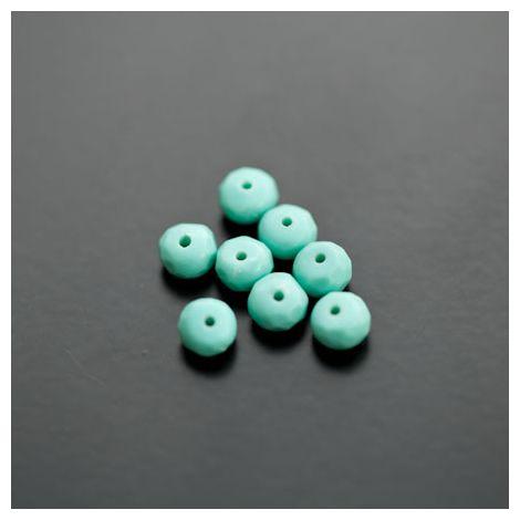 Perle de Turquoise Synthétique Boulier 6mm Facettes Bleu Turquoise