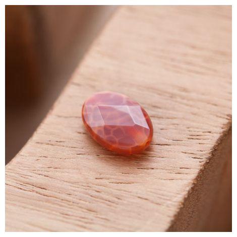 Perle en Agate Ovale 10x14mm Facettes Rouge