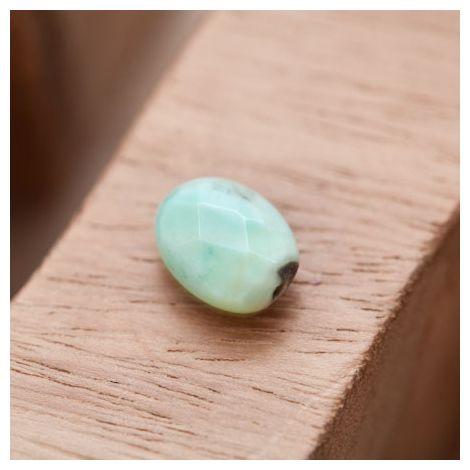 Perle en Agate Ovale 10x14mm Facettes Vert