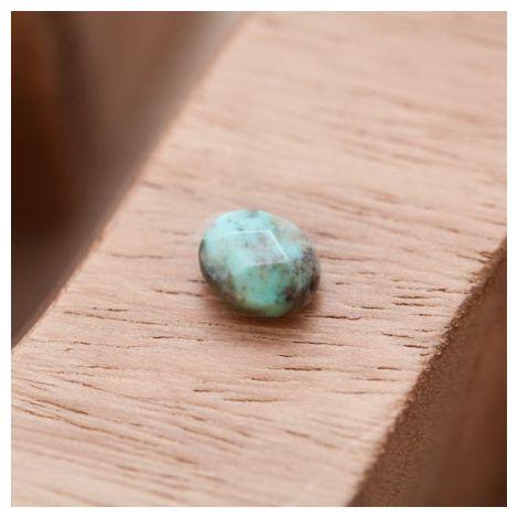 Perle en Agate Ovale 8x10mm Facettes Vert