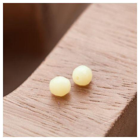 Perle en Corail Rond 6mm Jaune Pastel
