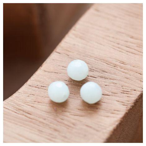 Perle en Corail Rond 6mm Vert Pastel
