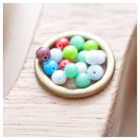 Perle en Jade 4mm Couleurs mixtes