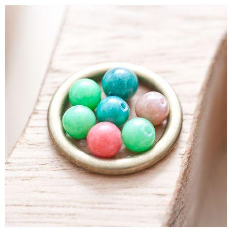 Perle en Jade 6mm Couleurs mixtes
