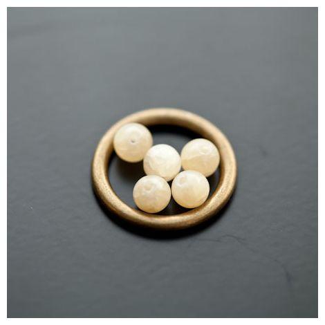 Perle en Jade 6mm Jaune