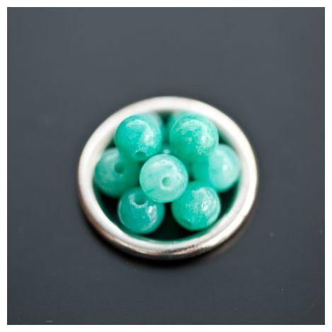 Perle en Jade 6mm Turquoise x 12