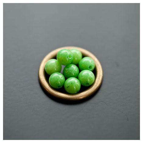Perle en Jade 6mm Vert clair