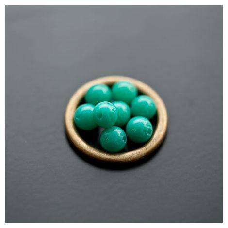Perle en Jade 6mm Vert Océan