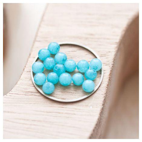 Perle en Jade Ronde 4mm Bleu turquoise