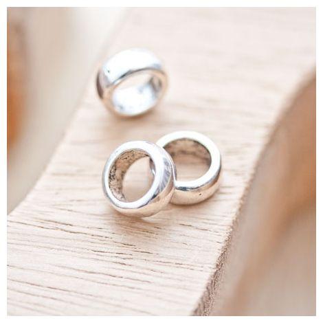Perle en métal Anneau 11mm Argent vieilli