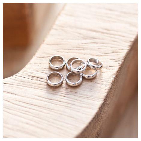 Perle en métal Anneau 6mm Argent gris