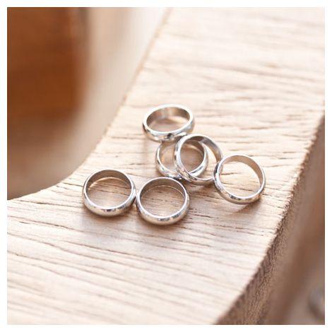 Perle en métal Anneau 8mm Argent gris