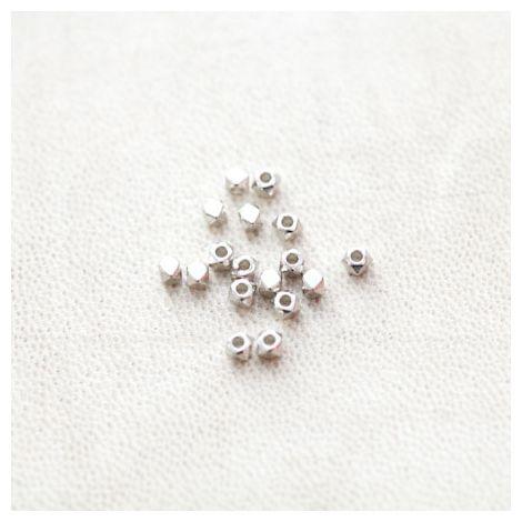 Perle en métal Boulon 3mm Argenté gris