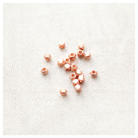 Perle en métal Boulon 3mm Doré Rose
