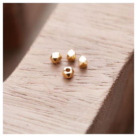 Perle en Métal Boulon 3mm Doré