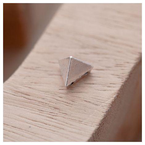 Perle en Métal Connecteur Pyramide Triangle Argent vieilli
