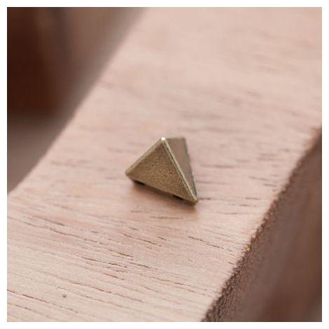 Perle en Métal Connecteur Pyramide Triangle Bronze vieilli