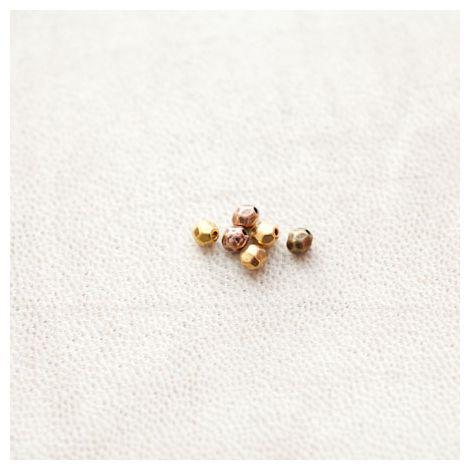 Perle en métal Ovale 4mm Facettes Couleur Mixte