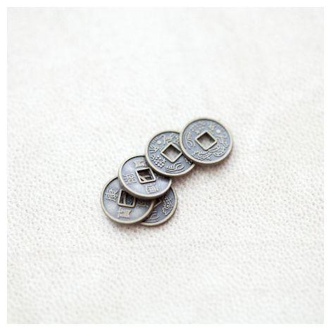 Perle en métal Rond 10mm Pièce Bronze vieilli