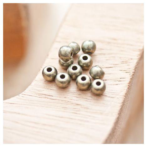 Perle en métal Ronde 5mm Bronze vieilli