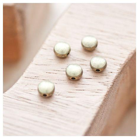 Perle en métal Ronde 6mm Plate Bronze vieilli
