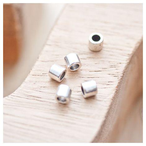 Perle en métal Tube 4.5x5mm Argent vieilli