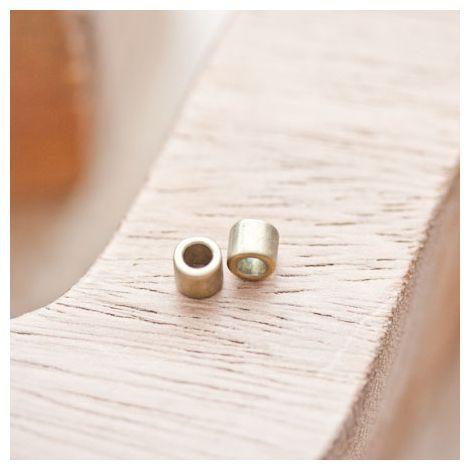 Perle en métal Tube 4.5x5mm Bronze vieilli